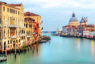 Papiers peints Grand Canal et Basilique Santa Maria della Salute, Venise, Italie