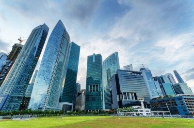 Papiers peints Gratte-ciel dans le quartier financier de Singapour