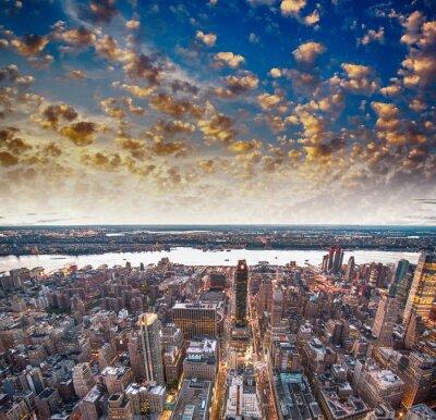 Papiers peints Gratte-ciel de la ville moderne et l'horizon