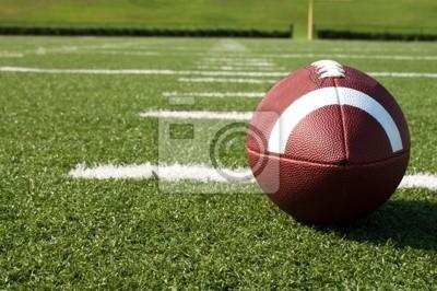 Papiers peints Gros plan de football américain sur le terrain