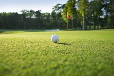 Papiers peints Gros plan de la balle de golf sur le vert