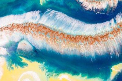 Papiers peints Gros plan de peinture à l'huile de couleur différente, colorée Dessin avec technique acrylique liquide, pigment artistique, liquide et pigments secs acrylique. Concept d'art moderne
