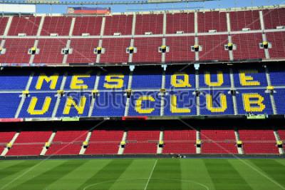 Papiers peints Gros plan du stade de football Camp Nou à Barcelone, en Espagne.
