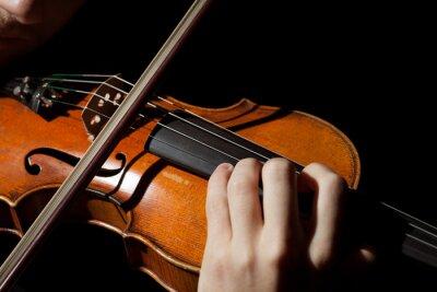 Papiers peints Gros plan, femme, jouer, violon