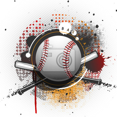 Grunge baseball fond
