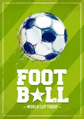 Papiers peints Grunge Football Poster