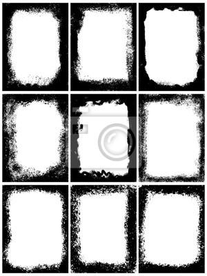 Grunge frame mis texture, modèle de conception abstraite. Vectoriel