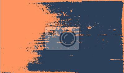 Papiers peints Grunge texture de fond. Rétro conception rugueuse de bleu foncé orange abstraite.