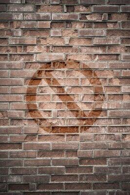Papiers peints Grungy mur urbain avec signe interdit