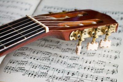 Papiers peints Guitare, poupée, musique, notes
