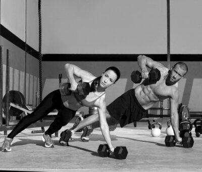 Papiers peints Gym homme et la femme push-up force enfoncement
