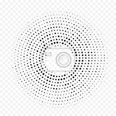 Halftone cercle dot de fond. Toile de fond circulaire sans soudure de vecteur abstrait. Gradient minimal blanc de demi-teinte avec la texture graphique à la mode simple pour le décor de design d'intér