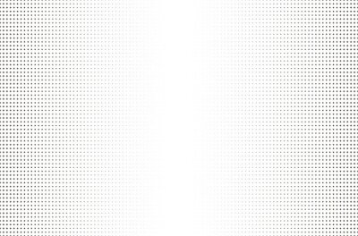 Papiers peints Halftone dotted background. Board with black grid on a white background.