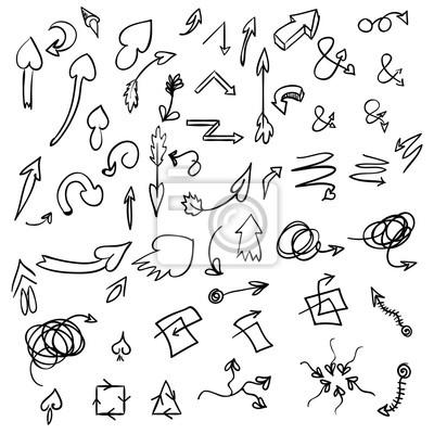 Hand Drawn Vector Arrows, Design Elements Set