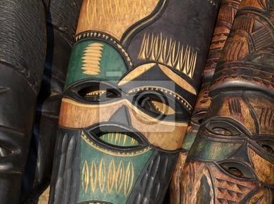 Hand made masque en bois africain
