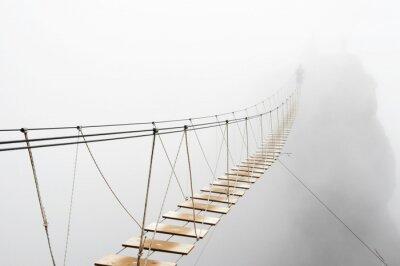 Papiers peints Hanging bridge in fog