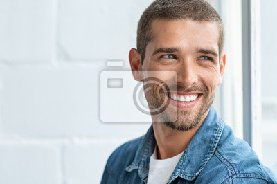 Papiers peints Happy smiling man looking away