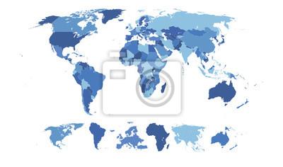 Papiers peints Haute carte détaillée du monde