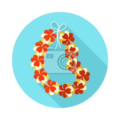 Hawa fleurs collier ic ne de guirlande vacances papier - Papier peint vinyle expanse ...