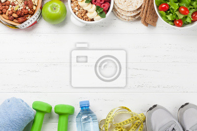 Papiers peints Healthy food and fitness concept