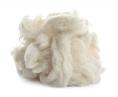 Papiers peints Heap of clean wool isolated on white
