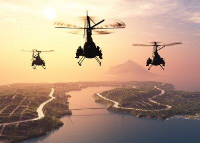 Papiers peints Hélicoptère militaire
