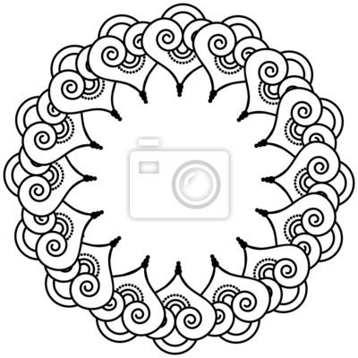 Henné indien tatouage inspiré des formes de coeur 3