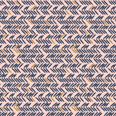 Herringbone stitches blue and pink hand drawn simple seamless texture.