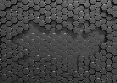 Papiers peints Hexagon 3d rendering