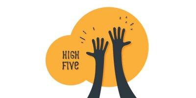 Papiers peints High five icon simple illustration