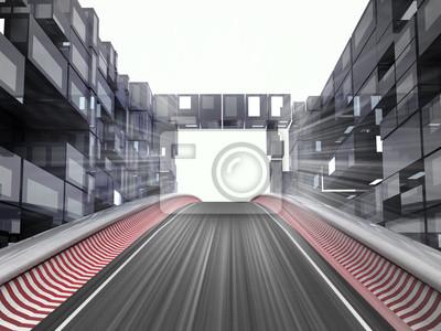 hippodrome colline dans l'espace de la ville moderne