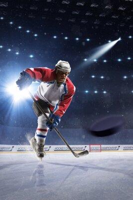 Papiers peints Hockey, hockey, joueur, glace, arène