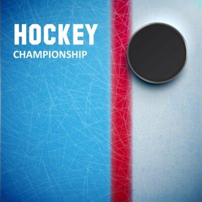 Papiers peints Hockey, rond, isolé, glace, haut, vue
