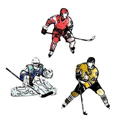 Papiers peints hockey sur glace illustrations vectorielles joueurs