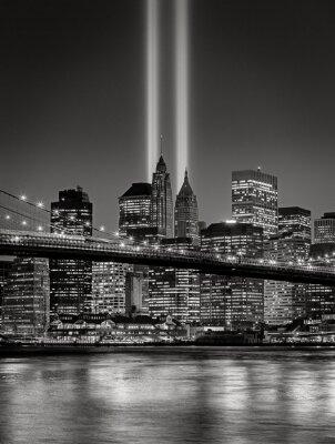 Papiers peints Hommage lumineux, Septembre 11 Commémoration, New York City