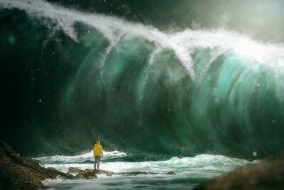 Papiers peints Homme, devant, tsunami