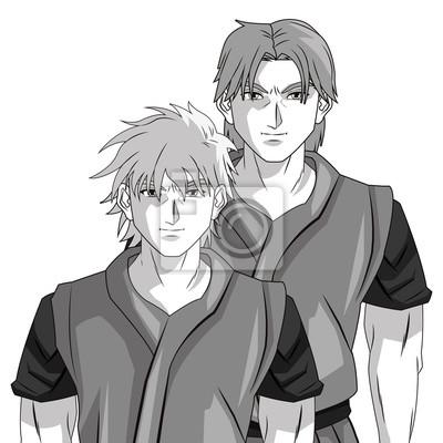 Papiers Peints Homme Garçon Jeune Anime Manga Comique Dessin Animé Combat