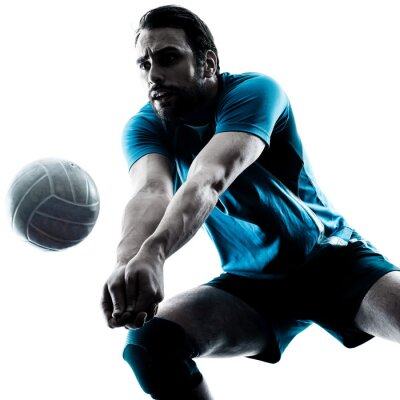 Papiers peints homme volleyball silhouette