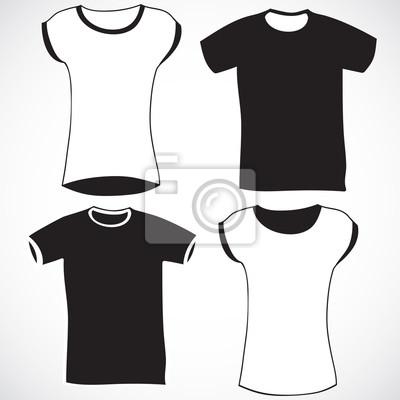 Hommes et femmes t-shirt modèle de conception