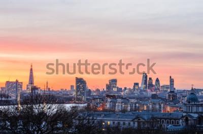 Papiers peints Horizon de Londres au coucher du soleil, Angleterre, Royaume-Uni