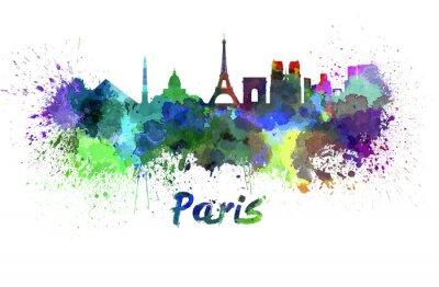 Papiers peints Horizon de Paris à l'aquarelle