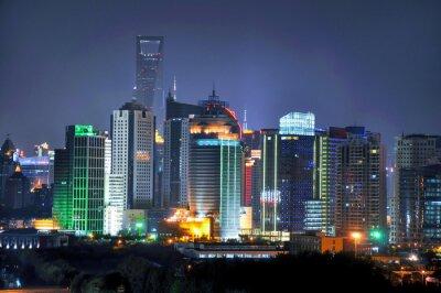 Papiers peints Horizon de Shanghai de nuit