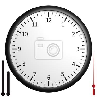Horloge personnalisable avec les mains séparées