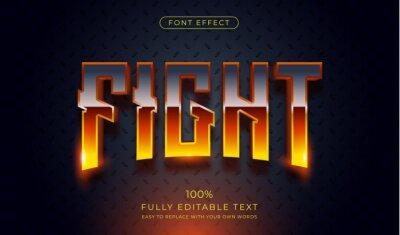 Papiers peints Hot Fight text effect. Editable font style