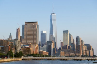 Papiers peints Hudson River vue d'horizon de Manhattan New York City