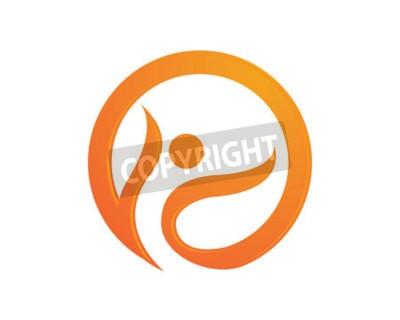 Human character logo sign Health care logo sign. Nature logo sign. Green life logo sign. Vector logo template.