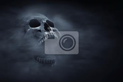 Papiers peints Human skull on dark background