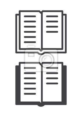 Papiers Peints Icone De Livre Ligne Et Version Solide Contour Et Vecteur Rempli