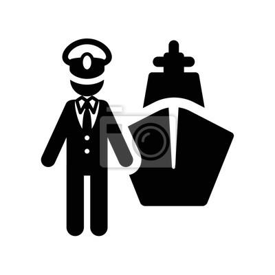 Icone De Symbole De Capitaine Papier Peint Papiers Peints Barre Capitaine Pictogramme Myloview Fr