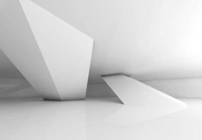 Papiers peints Iinclined colonnes et des ombres douces, 3d render